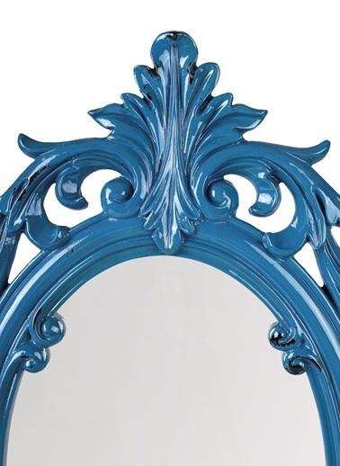 Oval Intaglio Dekoratif Ayna-Dekorazon